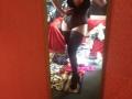 Mirror selfie in black stockings